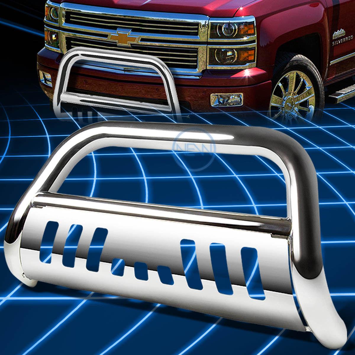 For RAV4 XA30 Front Bumper Protector Brush Grille Guard Chrome