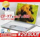 CF-Y7&win7&SSDスペシャル/DVD-ROMドライブ搭載【送料無料】Panasonic CF-Y7BWTAJS Windows7 (MRR)付中古パソコン【中古】