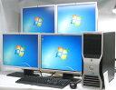 中古パソコン DELL Precision T3400-E8400MT■20'QuadDisplay Windows7 HomePremium(MRR)付(Core2Duo DVD-ROM DVI-I グラボ ビデオカード GeForce HDMI デル)【中古】 P20Feb16
