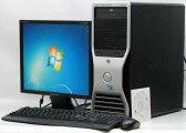 中古パソコン DELL Precision T3400-E8400MT■17液晶セット Win7Pro(MRR)付(Core2Duo DVD-ROM 17インチ DVI-I グラボ ビデオカード Windows7 Pro デル)【中古】 P20Feb16