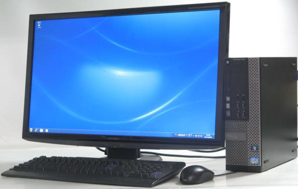 中古デスクトップパソコン DELL Optiplex 7010-3400SF■27液晶セット(デル Windows7 Corei7 グラボ ビデオカード GeforceGTX1050 DVDスーパーマルチドライブ HDMI出力端子)【中古】【中古デスクトップパソコン/中古PC】