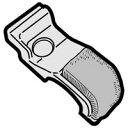 【定形外郵便対応可能】SHARP(シャープ)掃除機用 ブラシカバー(右)部品コード:2171102421【宅コ】