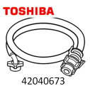 ◆TOSHIBA 純正◆◆◆TOSHIBA (東芝) 洗濯機 衣類乾燥機 ☆給水ホース・ホース継手 0.8m◆◆42040673 ■