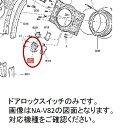パナソニック Panasonic ナショナル 洗濯機用 ドアロックスイッチ 部品コード:AXW1619-7CN0 対応機種:NA-V82用