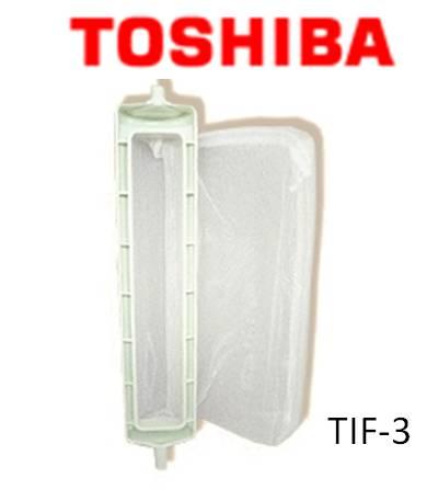 【メール便対応可能】TOSHIBA 純正◆ 全自動洗濯機用糸くずフィルター ゴミ取りネット ◆◆東芝 (トーシバ)  TIF-3(42044593) ライトグリーン