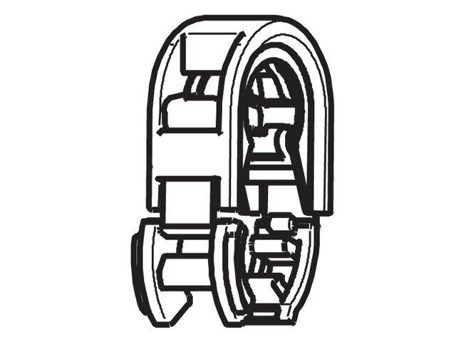 【小型宅配便(定型外郵便)対応可能】☆パナソニック(Panasonic)☆ 温水洗浄便座用 クイックファスナー完成部品コード:DL792X-EGCS0 純正部品 消耗品