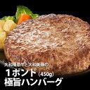 【秋の感謝祭☆50%OFF!】甘くジューシーな肉汁が溢れる★極旨ハンバーグ 1ポンド(450g)【冷凍便】