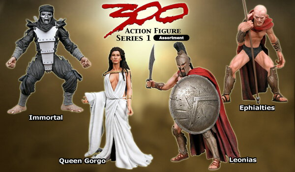 "US Edition NECA ""300 series 1 action figure ' 4-piece set"