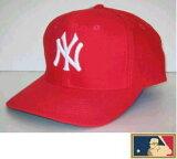 MLB メジャー3DキャップDX★ニューヨーク・ヤンキース★レッド(生地厚タイプ)