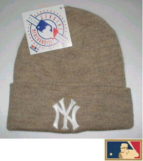 "MLB measure knit cap DX ""New York Yankees"" beige"