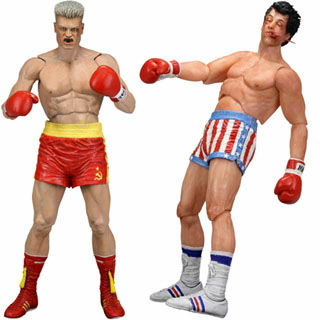 2 two kinds of NECA Rocky action-figure series sets (damage version) for US