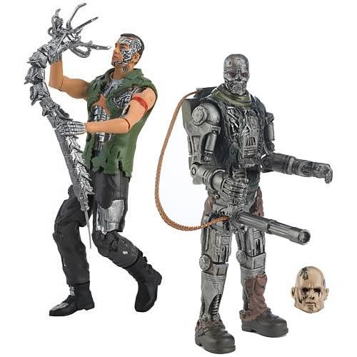 Playmates terminator 4 サルベイション 10-inch action figure set of 2