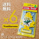 楽天US STYLE MART【ホールセール】【まとめ買い】【リトルツリー】【Little Tree】【6枚セット送料無料】バニラロマ 【芳香剤 車】Vanillaroma