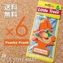 楽天US STYLE MART【ホールセール】【まとめ買い】【リトルツリー】【Little Tree】【6枚セット送料無料】【ピーチーピーチ】【Peachy Peach】 【芳香剤 車】