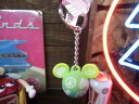 【ディズニー】キーホルダー【キーチェーン】【USAディズニーショップ限定】【ミッキーシルエット☆ピース】