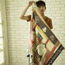 ショッピング大相撲 シルクスカーフ シルク100% 大判スカーフ silk scarf 浮世絵スカーフ 歌川国芳「歓心大相撲」絹 utagawa kuniyoshi