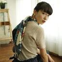 シルクスカーフ シルク100% 大判スカーフ silk scarf 浮世絵スカーフ 歌川国芳 「八郎潟」絹 utagawa kuniyoshi