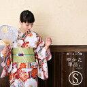 【お買い物マラソン】浴衣 単品 新作 椿 ストライプ 猫 麻...