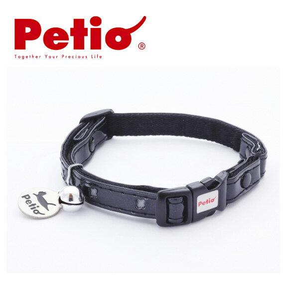 ペティオCCクロスレザーカラーブラック猫首輪(くびわ・カラー)猫用首輪・猫の首輪お出かけ・お散歩グッ