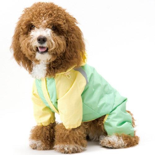 犬服/ドッグウェアアスクベチックアッシュフルサポートレインウェア(4号〜6号)小型犬〜中型犬用レイン