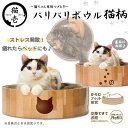 猫壱 バリバリボウル 猫柄【お手入れ用品/爪とぎ(ダ