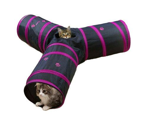 キャティーマンペット遊宅みつまたトンネルキャットタワー/猫タワー猫のおもちゃ・猫用おもちゃ猫用品/猫