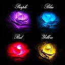 光るバラ 造花モデル - 防水 - LEDで光るバラ 水に浮かぶバラ LED 薔薇 バラ 造花 インテリア 照明 花