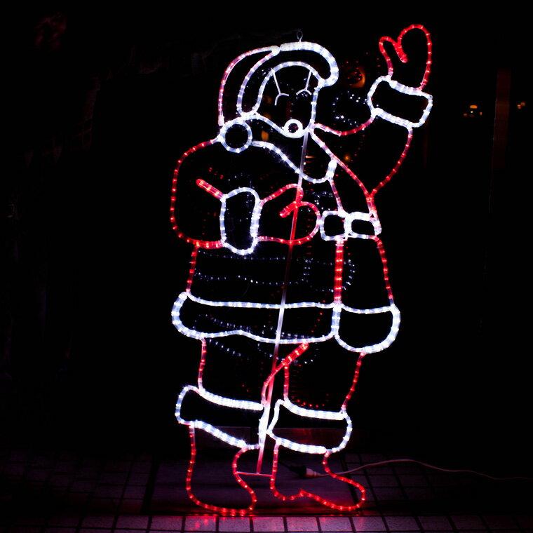 モチーフライト サンタクロース 150cm×75cm サンタがやって来た オーナメント モチーフ ライト 2D LED 電飾 イルミネーション クリスマス Christmas 飾り付け 装飾