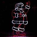 モチーフライト サンタクロース 150cm×75cm サンタがやって来た オーナメント モチーフ ライト 2D LED 電飾 イルミネーション クリスマス Ch...