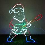 イルミネーション モチーフ サンタ 66×63cm ギターを弾く愉快なサンタ クリスマス LED 屋外 モチーフライト サンタクロース クリスマス motif
