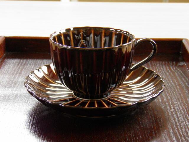 漆陶菊割コーヒーC/S