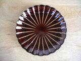 【業務用食器】漆陶菊割14.5cm皿
