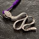 福禄白蛇(根付け付き)【ストラップペンダントシルバー925】【父の日 敬老の日 ギフト】
