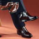 メンズアップシューズ牛革(デザインモカハーフブーツ)【ヒールアップシューズ 5cm ビジネスシューズ靴】【送料無料】【父の日 敬老の日 ギフト クリスマス】