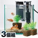 お魚天国バイオキューブ(3個組) 【セラミック ろ過 フィルター 濾過材 バクテリア 水換え 簡単 熱帯魚 水垢 水槽】