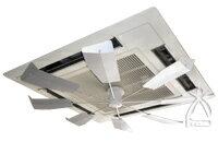 送料無料 節電 エアコン風よけに ハイブリッドファン・ファーストFJR シルバー(HBF-FJK S/W) ハイブリッド・ファン