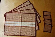 王國的泰國 ISAN 支付細竹編織的餐墊 & 過山車 (棕色) 設置了 4