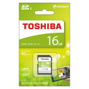 東芝 SDカード16GBクラス10 SDAR40N16G[SDカード]