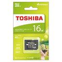 東芝 マイクロSDカード16GBクラス10 MSDAR40N16 SDカード