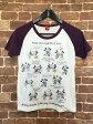 ディズニー Disney ラグランTシャツ カットソー 半袖 プリント M ホワイト 白 レディース 【ベクトル 古着】【中古】 160411
