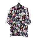 【中古】ミスビヘイブ MISBHV アルファベット プリント シャツ 半袖 XL マルチカラー メンズ 【ベクトル 古着】 200421 VECTOR×Refine
