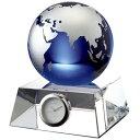 GLASS WORKS NARUMI (鳴海製陶)ブルーアース デスククロック(M) 11cm【楽ギフ_名入れ】【楽ギフ_のし宛書】【楽ギフ_メッセ入力】【楽ギフ_包装】