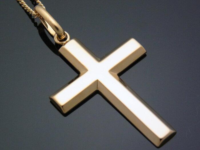 18k イエローゴールド クロス ペンダント ネックレス チェーンセット 18金 ネックレス k18 ※チェーン長さ40cm.45cm.50cmからお選び頂けます【キャンペーン対象商品】