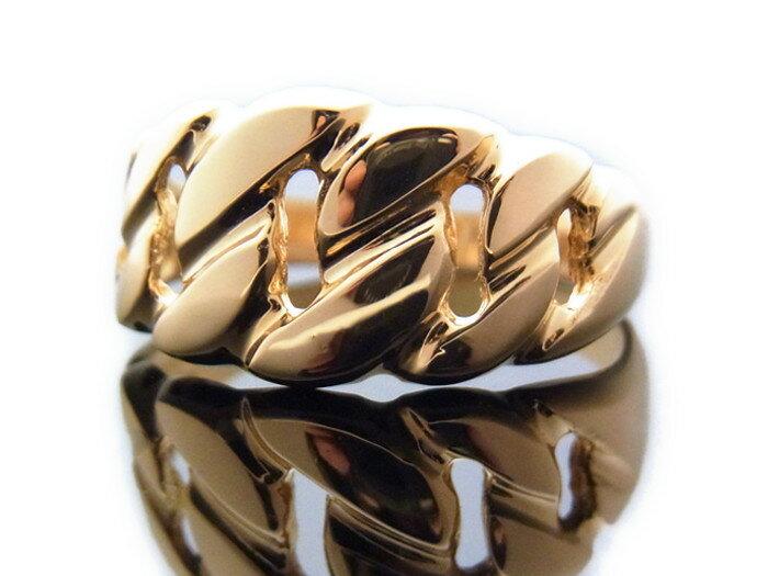 18K イエローゴールド メンズ 喜平 キヘイ(マイアミキューバン)  リング 指輪 18金 k18