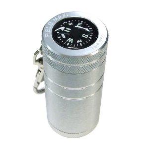 WINDMILL(ウィンドミル) 携帯灰皿 FIELDMAX5000 ワンタッチスライド式 コンパス付き (全2色) アルミ素材
