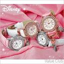 楽天バリュー・クラブ新商品 Disney/ディズニー◆ミッキーハートチャーム腕時計/スワロフスキー30石 (全4色) NFC110044