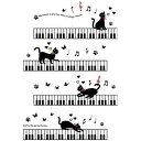【ウォールステッカー 猫】 ねこ ネコ 黒猫 かわいい 動物 ウォールシール アニマル 植物 壁紙 ...