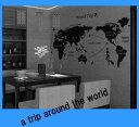 RoomClip商品情報 - ウォールステッカー 世界地図 ウォールステッカー 地図 ウオールステッカー 英字 ステッカー 英文 シール 風景 黒 おしゃれ キッチン 文字 かっこいい ディズニー アルファベット ikea 子供 スイッチ ワールドマップ 身長計 北欧 子供部屋 壁紙 モダン カフェ 海 大きい