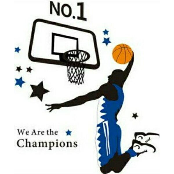 ウォールステッカースポーツ子供部屋バスケットボールステッカー人物ウォールシール人ステッカーバスケシー
