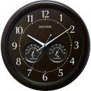 ショッピング掛け時計 RHYTHM 温度湿度計付掛時計 1個